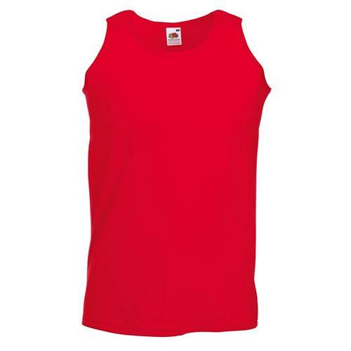 Fruit of the loom férfi atléta - trikó - piros