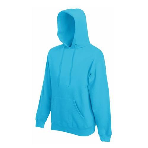 Fruit of the loom férfi kapucnis pulóver - világos kék