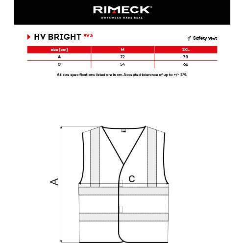 Malfini RIMECK unisex biztonsági mellény – 9V3 - több szín és méret 001b8f4b45