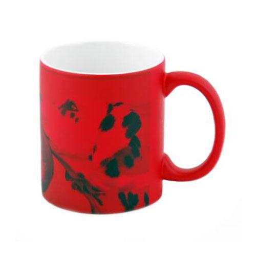 Színváltós varázsbögre piros - nyomtatható - 3dl