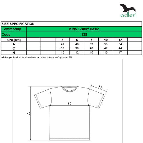 Malfini Basic gyerek póló - 138 több színben és méretben
