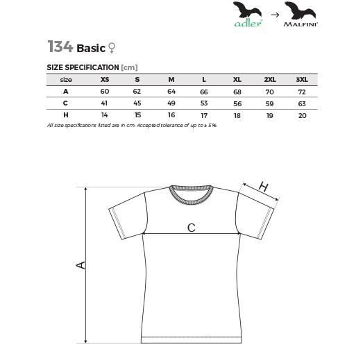 Malfini női póló - Basic - 134 - több színben és méretben