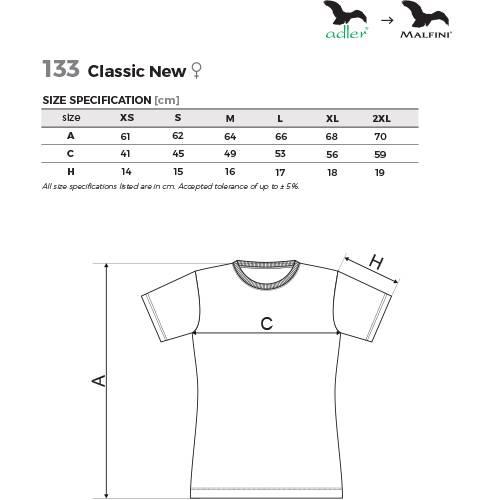 7ebdd2f8fe Malfini női póló - Classic New - 133 - több színben és méretben