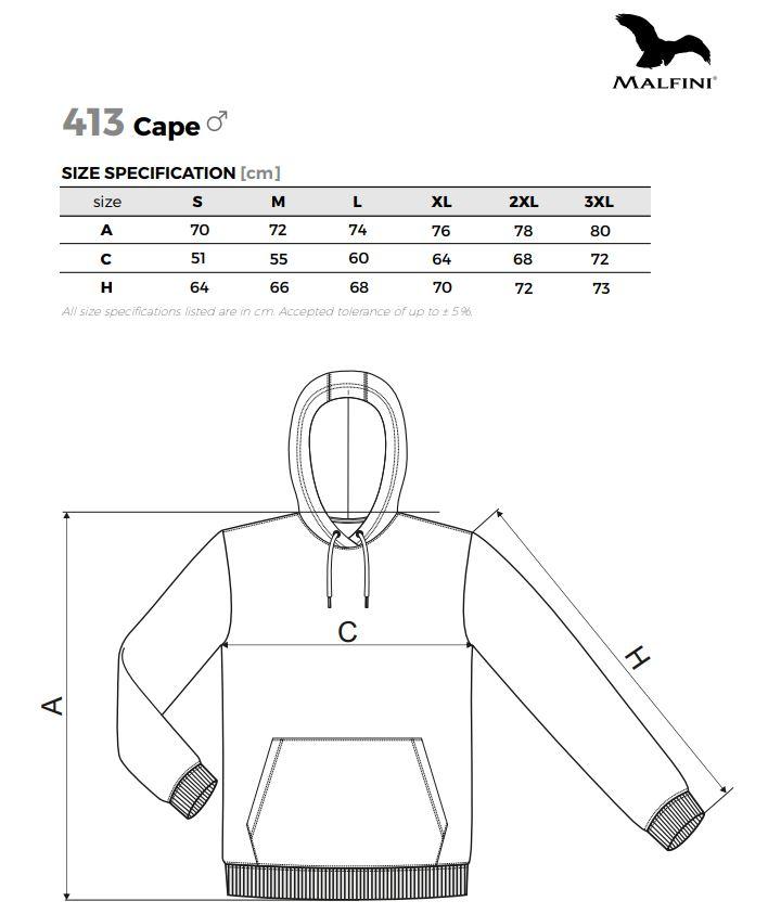 Malfini CAPE - férfi pulóver kapucnival - 413 - több méretben és ...