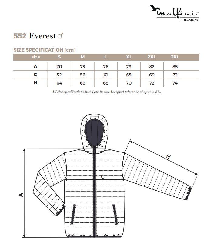 Malfini Everest 552 férfi CIPPZÁROS, KAPUCNIS dzseki, PRÉMIU