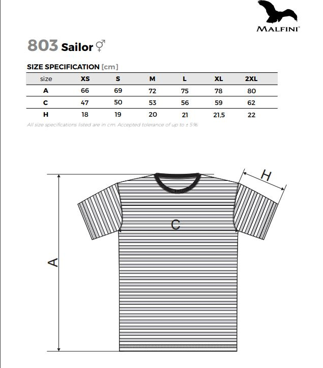 Malfini férfi póló - Sailor - 803 - több méretben - divatos kivitelben