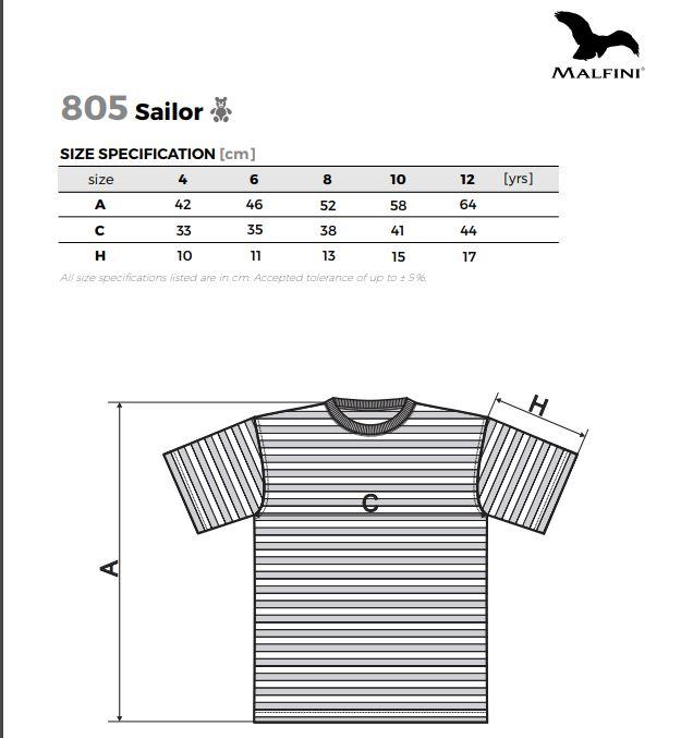 Malfini gyerek póló - Sailor - 805 - több méretben - divatos ...